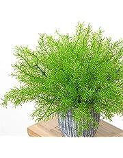 Underleaf 人工植物、フェイクグラスプラスチック葉低木シミュレーション緑茂み屋内屋外ホームガーデンオフィスヤードベランダ結婚式の装飾