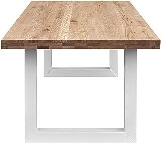 COMIFORT Mesa Comedor - Mueble de Oficina de Roble Macizo