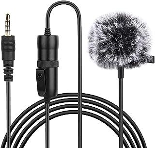 prasku Lavalier Lapel Microphone Complete Set Omnidirectional Mic for Desktop PC Computer, Smartphone, DSLR, Camcorder for...