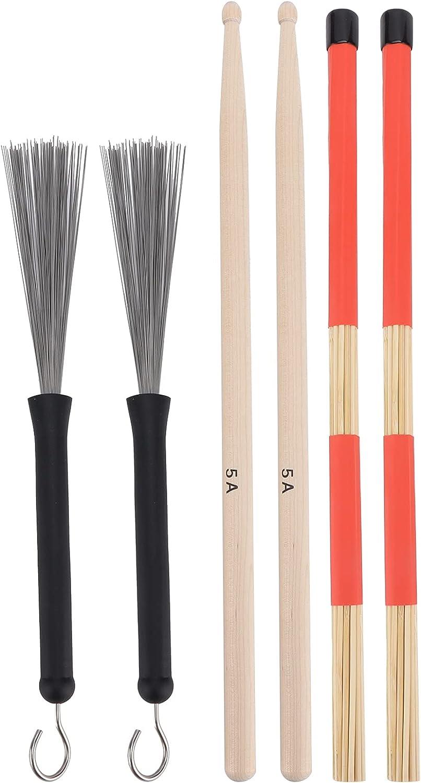 Palillos del cepillo del palillo del tambor, palillos clásicos duraderos del arce 5A para el jazz para la música clásica