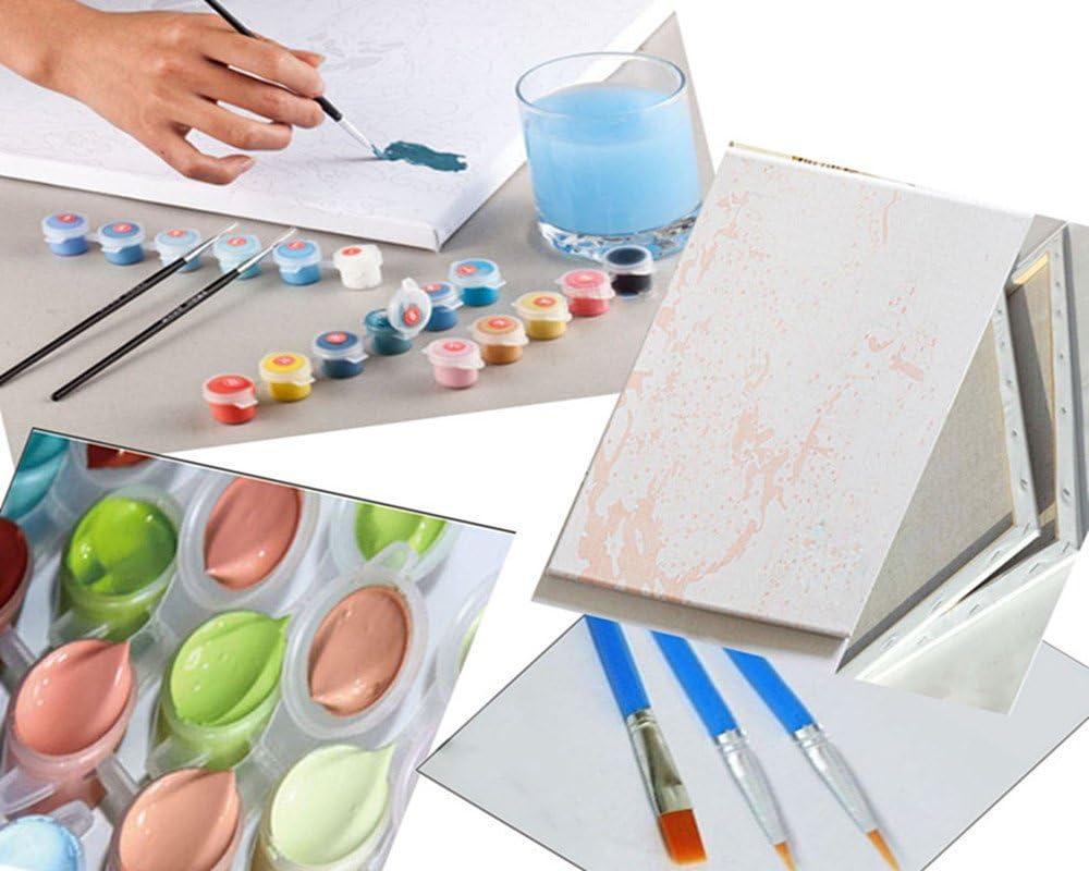 dessin avec pinceaux d/écoratifs de No/ël Frame Vin rouge sur la table XDXART Kit de peinture /à lhuile avec num/éro pour enfants adultes d/ébutants 40,6 x 50,8 cm