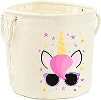 Direct 23 Ltd Unicorn Canvas Toy Storage Tub (S (30x30cm))