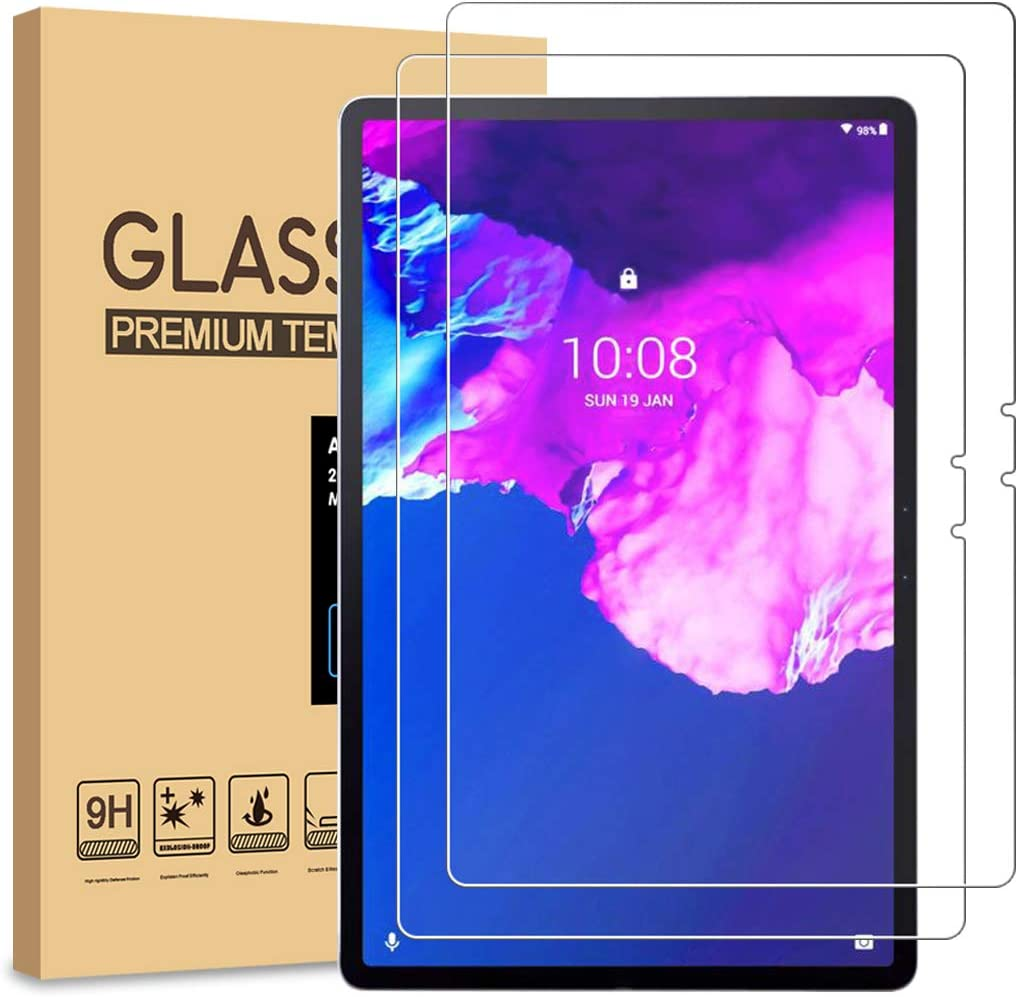 [2-Pack] PULEN for Lenovo Tab Pro & Tab P11 Pro Screen Protector,HD Clear Scratch Resistant Bubble Free Anti-Fingerprints 9H Hardness Tempered Glass(11.5 Inch)