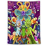 Rick and Morty Tapestry Anime Tapestry Wall Hanging Tapestries for Birthday Party Decoration (30 X 50 inch) (04)