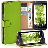 MoEx Premium Book-Hülle Handytasche passend für HTC Desire 626G | Handyhülle mit Kartenfach & Ständer - 360 Grad Schutz Handy Tasche, Grün