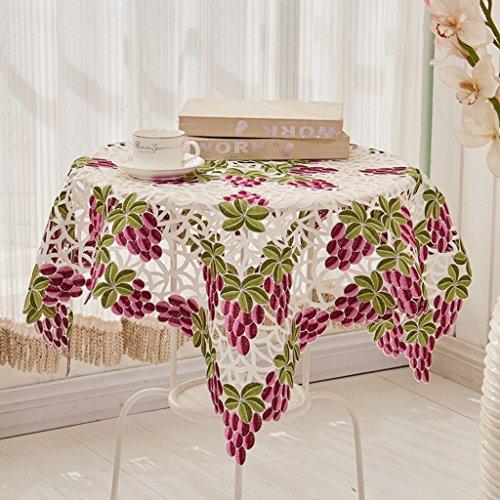 Nappe européenne Élégante nappe florale vintage Tissu de table basse Tissu de table ronde (taille : 130 * 130cm)