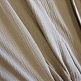Stoff Meterware Baumwolle Musselin beige sand uni Mulltuch