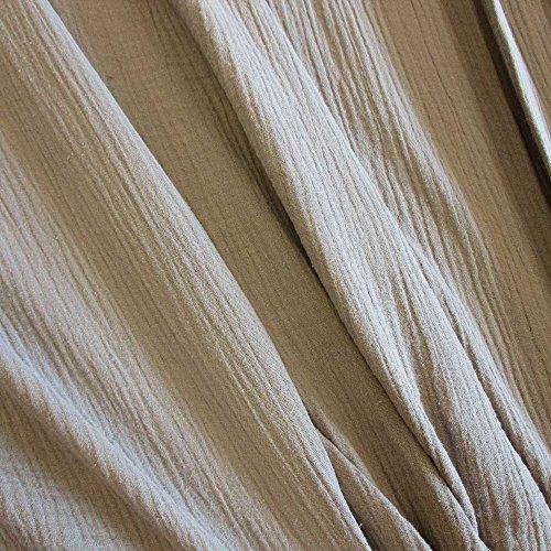 Meterware Stoff Baumwolle Musselin beige Sand Uni Mulltuch Kleiderstoff Double Gauze