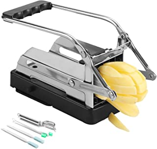 Beefeta French Fry Cutter, Stainless Steel for 3.5X2.4inch Potatoes Professional Potato Cutter Slicer with No-Slip Suction...