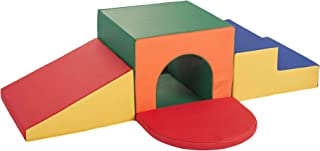 Sprogs Indoor Active Play, Soft Foam Tunnel Climber for Toddlers and Kids - Primary Assorted Colors (SPG-1513-AS)