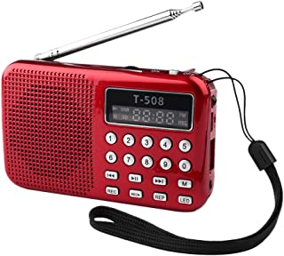 Mini Pocket TF Card Slot MP3 Music Player Speaker LED Rechargeable FM Radio