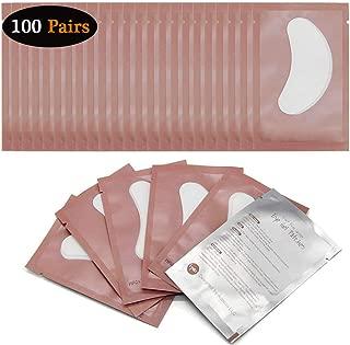 100 Pairs Eyelash Extension Eye Pads - Lint Free - Hydrogel Eye Patch/Lash Extensions Eye Gel Pads, Professional Under Eye Pads for Lash Extensions Supplies