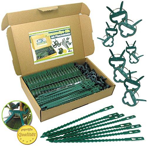 MGS SHOP Pflanzenclips & Binder 180 Stück stabile Set für kleine & große Triebe (180er Mixed+)