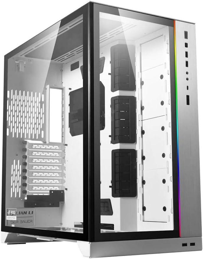 Lian Li O11DXL-W O11 Dynamic XL ROG Certified (White) ATX Full Tower Gaming Computer Case