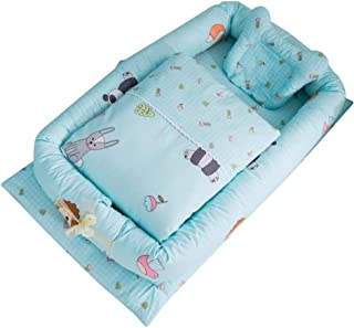Weixinbuy Baby Bassinet for Bed Cotton Soft Breathable Baby Lounger for Newborn Toddler Infant Portable Crib Bassinet Slee...
