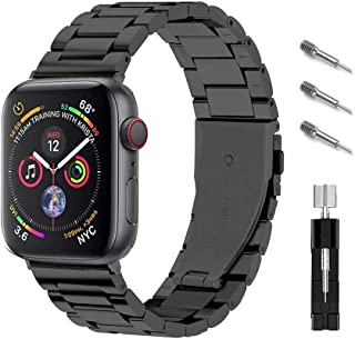 Ontube Bands Compatible with Apple Watch, Stainless Steel Link Bracelet Strap for Apple Watch Series SE/6/5/4/3/2/1 (42MM/...
