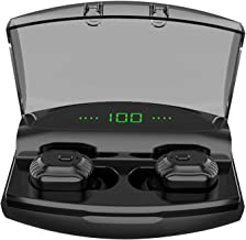 AQwzh Bluetooth 5.0 Wireless Earbuds with Upgraded LED Display Charging Case Stereo Sound Headset IPX5 Waterproof TWS Built-in Mic in-Ear Earphones with Deep Bass for Sports Running