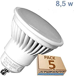 Pack 5x GU10 LED 8,5w Potentisima. Color Blanco Frío (6500K