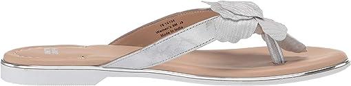 Silver Metallic Italian Suede