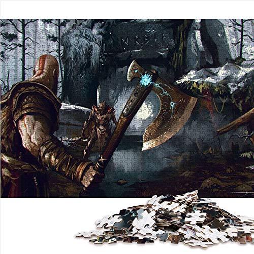 Visionpz Puzzle Adulto 1000 Piezas God of War 4 Rompecabezas clásico in-Game Character Rompecabezas Juegos educativos para Adultos y niños para aliviar el estrés. 52x38cm