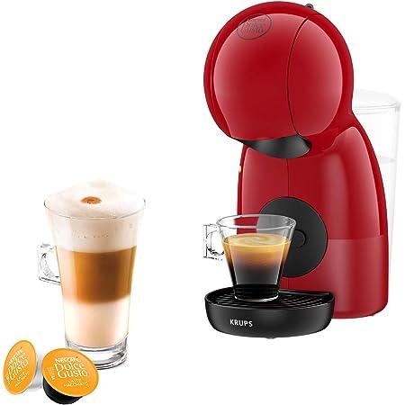 Krups Nescafé Dolce Gusto Piccolo XS rouge, Machine à café Ultra compact, Cafetière a dosette Multi-boissons, Intuitive, Pression 15 bars, Mode éco KP1A0510