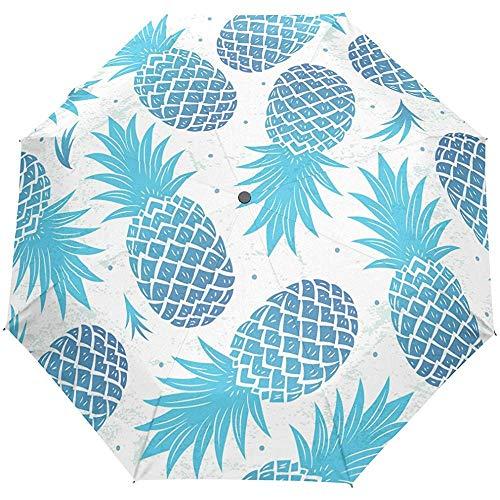 Hallo willkommen Tropische Ananas Sommer Auto öffnen schließen regenschirme Anti uv Falten kompakte automatische Regenschirm