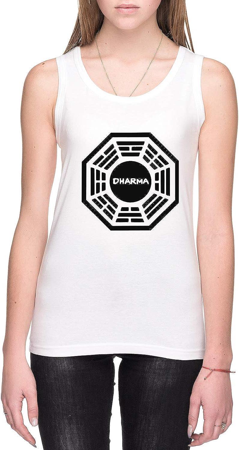 Dharma Initiative Mujer Camiseta De Tirantes Blanco Todos Los Tama/ños Womens Tank T-Shirt White