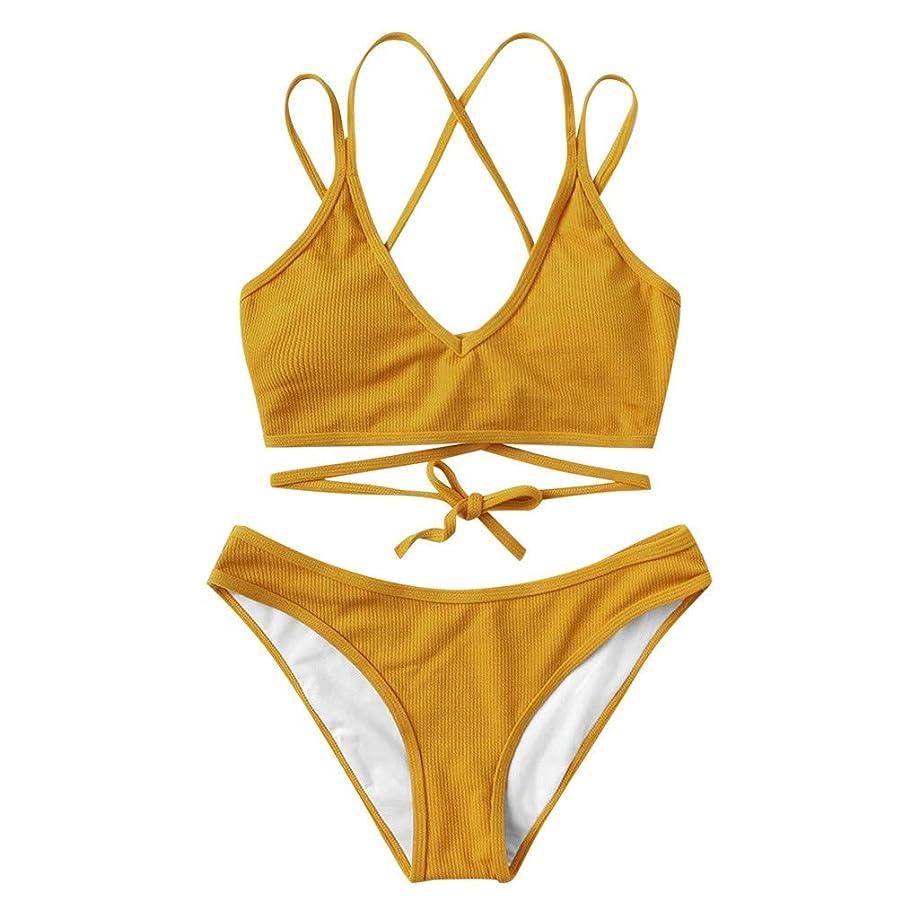 AOJIAN Swimsuits Two Pieces Bikini Sets Lace Up Beachwear Kimono Monokini Tankini Swimwear Cover Up
