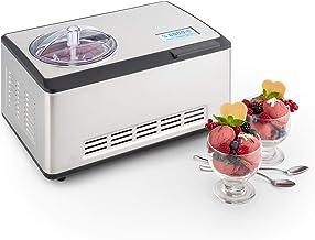 Klarstein Dolce Bacio - Machine à crème glacée, Sorbetière à compresseur, Glaces, sorbets, yaourts, Pack thermique 2L, Ecr...