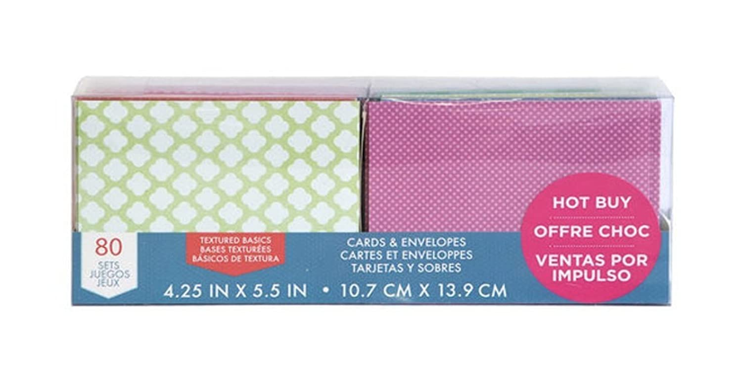 Craft Smith Textured Blank Cards and Envelopes 80 Sets Assorted Designs 4.25x5.5
