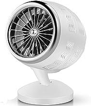 Calentador Ventilador Enchufe UE Portátil Mini Calentador Eléctrico Ventilador Winter Warmer Máquina Calefacción Gira Estufa De Calefacción Radiador Desktop Para Oficina Oficina ( Color : White )