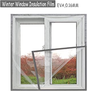 Lona, Kit de Aislamiento de Ventanas para el hogar, Parabrisas de protección contra el frío Interno de PVC Transparente Espesado, 23 tamaños (Color: Transparente, tamaño: 1.8X