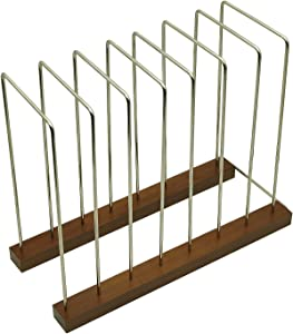 Reusable Storage Bag Drying Rack, Kitchen Drying Rack, Storing Rack for Dishes, Cutting Board, Pot & Bakeware Rack, Book & File Organizer