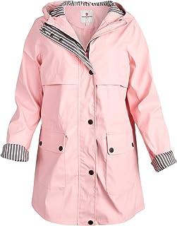 Women's Jacket – Lightweight Vinyl Hooded Shell Rain Coat