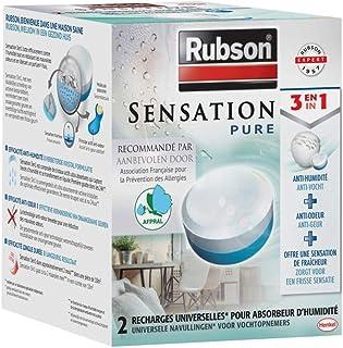 Rubson Sensation Pure, 2 Recharges universelles de 300 gr pour absorbeur..
