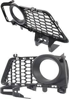 Fog Light Trim compatible with 2013-2014 BMW 328i Left and Right Side Sedan W/M Sport Line Set of 2 Plastic Black