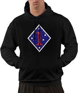 1st Marine Division Men's Hoodies Hooded Sweatshirt with Pocket