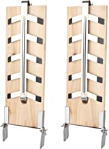BMOT 2X Räucherbrett Flammlachsbrett Zedernholzbrett mit Stabiler Edelstahl-Halterung für Feuerschale & Grill