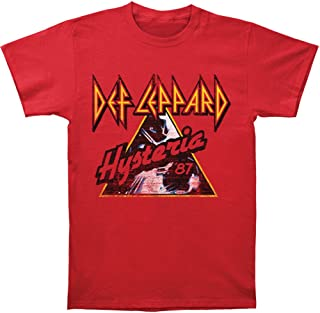 Def Leppard Men's Hysteria '87 T-shirt Red