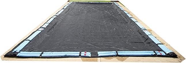 Blue Wave 30-ft x 50-ft Rectangular Rugged Mesh In Ground Pool Winter Cover