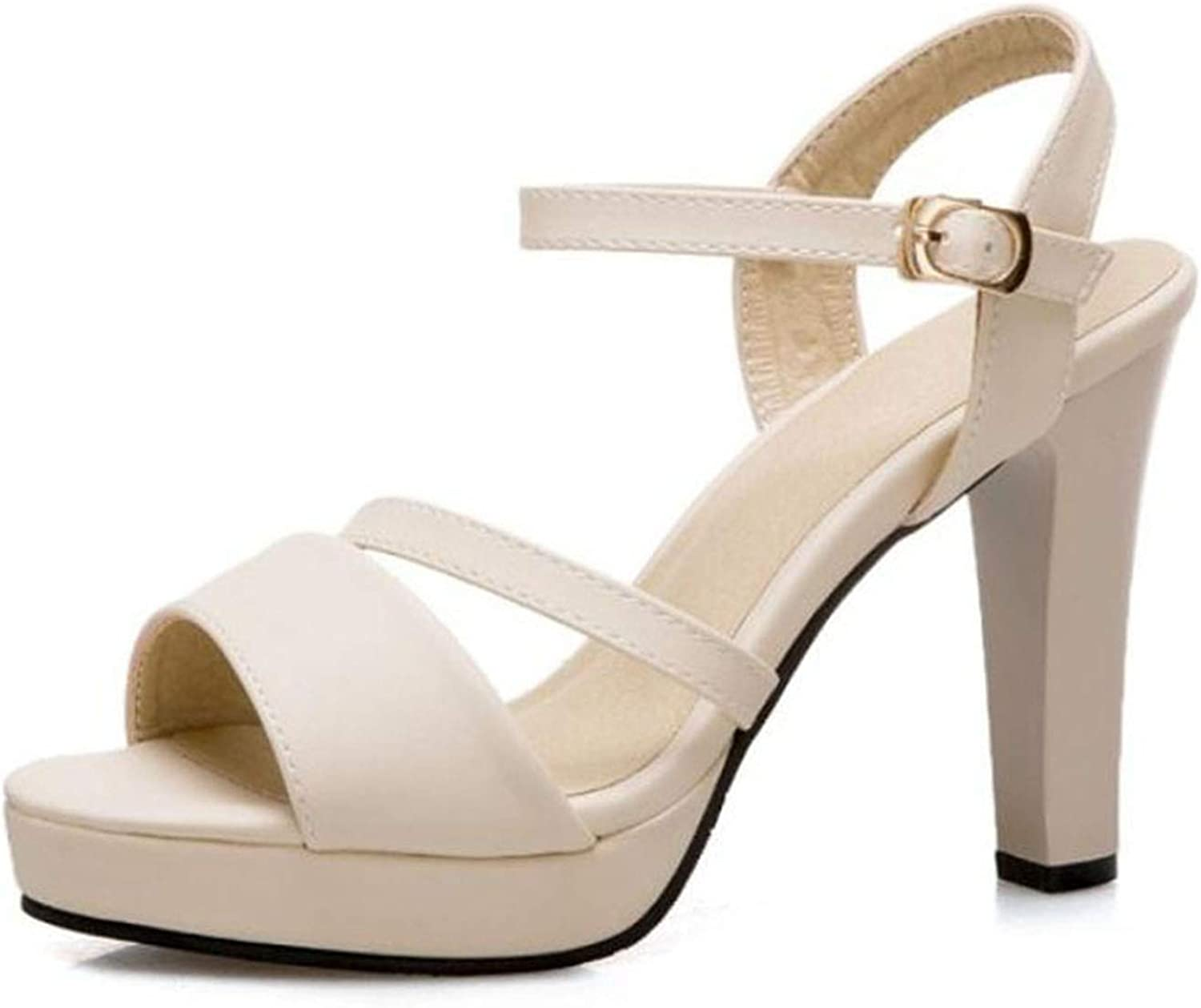 Women High Heel Sandals Classic Open Toe Ankle Strap Sweet Sandals Party shoes Women