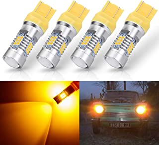 ANTLINE Extremely Bright 7443 7440 T20 7441 992 W21W 21-SMD 2835 Chipsets 1260 Lumens LED Bulb Replacement Amber Yellow for Car Turn Signal Blinker Side Marker Lights Bulbs (Pack of 4)