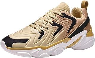 Men's Mesh Breathable Low-Top Sneakers Lightweight Anti-Slip Walking Shoes