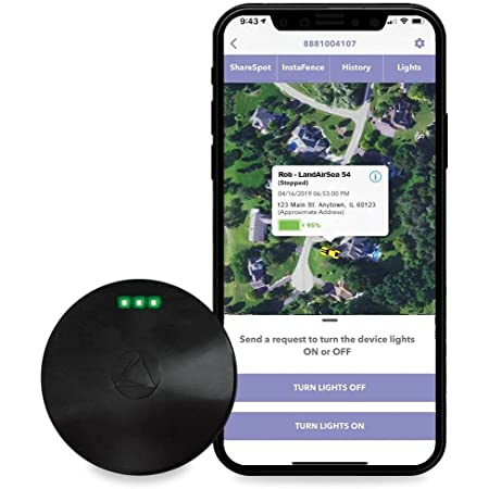 54 GPS Tracker, USA Manufactured, Waterproof Magnet Mount. Full Global Coverage. 4G LTE Real-Time Tracking for Vehicle, Asset, Fleet, Elderly and More. Subscription is Required, Black