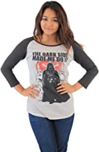 Star Wars The Dark Side Made Me Do It Juniors Raglan T-Shirt
