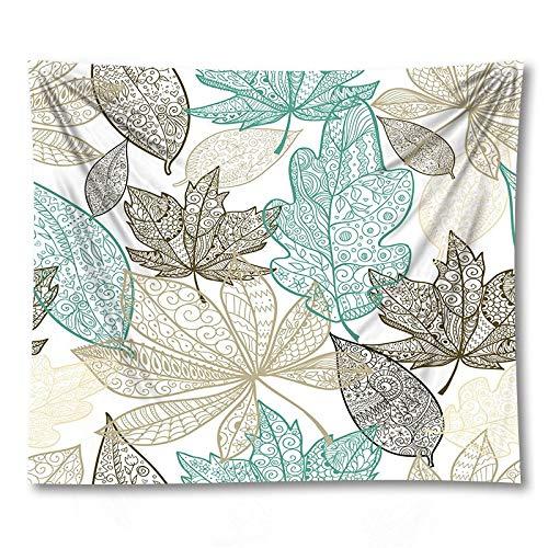 PPOU Tapiz de Hoja Verde Sala de Estar Dormitorio Planta Tropical impresión Colgante de Pared Boho Tapiz Decorativo Tela de Fondo A10 73x95cm