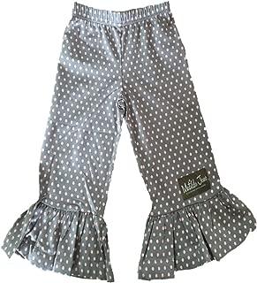 Ruffle Grey and Pink Polka Dot Pants