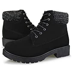 91eccb9d36b4 Hawkwell Women s Lace Up Outdoor Work Combat Boots Waterproof .