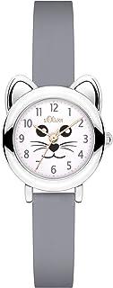 s.Oliver Mädchen Analog Quarz Armbanduhr mit Silikon Armband
