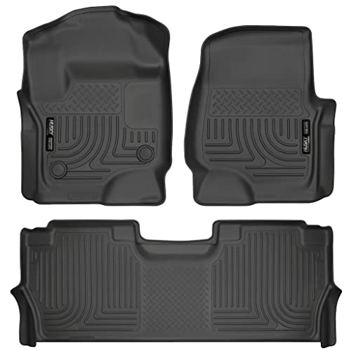Husky Liners 13301-14401 - WeatherBeater Series - First and Second Row All Weather Floor Liners for 2017 Ford F-250/F-350/F-450 Crew Cab